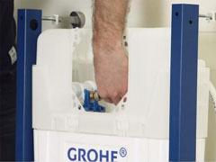 Установка заливного механизма инсталляции Grohe - фото 8
