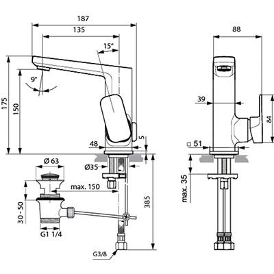 Установка смесителя Ideal Standard